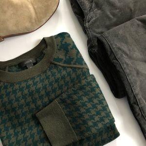 J. Crew Merino Tippi Sweater in Houndstooth